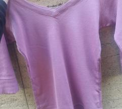 Roze bluza sa 3/4 rukavima