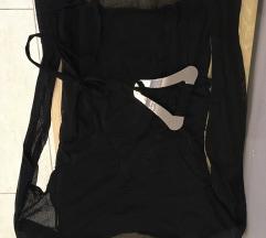 crna bluza sa providnim rukavima - sada 1800