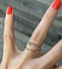 Cartier ekser prsten srebrni