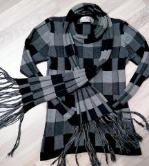 Džemper-bluza sa šalom - vel. S/M