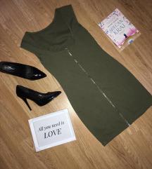 Maslinasto zelena mini haljina