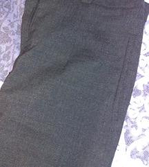Sive poslovne pantalone