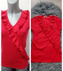Crvena pamucna majica sa karnerima