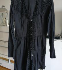 Crna predivna tunika-haljina