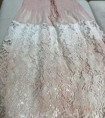 Cipkasta midi suknja