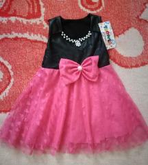 NOVO! Prelepa haljinica sa biserima i cipkom