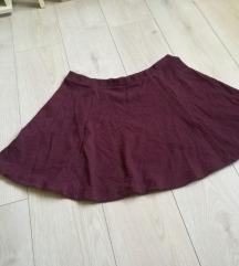 C&A bordo-ljubicasta suknja za jesen