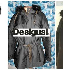 Desigual jakna parka crna vel L