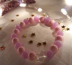 Ljubicasto roze narukvica sa zvezdom