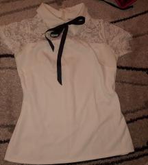 Bela majica sa masnom i cipkom