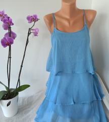 MANGO plava haljina vel XS
