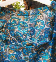 Vintage unikatna haljinaa sa rusticnim motivom