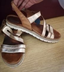 Kozne zlatne sandale