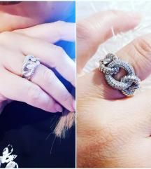 Srebrni prsten 17mm. Novo
