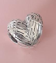 Privezak Srce krila + Pandora vrecica