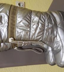 Cizme srebrne  snegarice 37