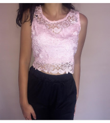 Roze crop top