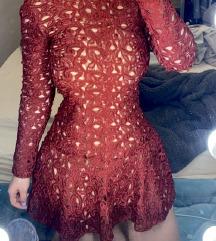 Crvena cipkasta haljina ZARA 🥰❤️SNIZENO!!