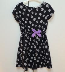 H&M haljinica sa lobanjama 128