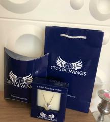Chrystal wings swarovski nova ogrlica