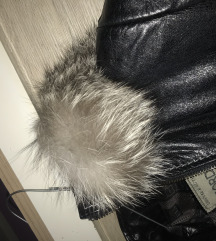Original kozna jakna sa prirodnim krznom i kozom