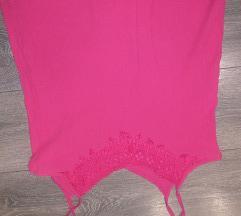 Pink majica na bratele sa cipkom