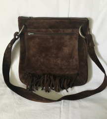 Vintage torba sa resicama velur koža