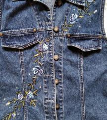 Teksas prsluk sa vezenim cvetovima