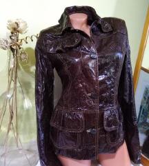 ITALY kožna jakna prirodna 100%koža M nova