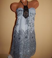 Sivo-crna tunika/haljina
