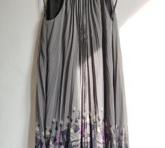 Pepe Jeans svilena haljina na falte Andy Warhol
