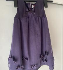 Ljubičasta haljinica na masnice 98