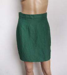 Vintage zelena suknja duboka