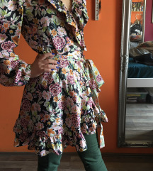 Dizajnerska haljina na preklop NOVA