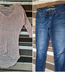 Komplet farmerke ZARA i bluza ZARA