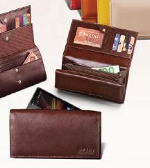 Prince leather set novčanik i ešarpa