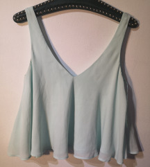 Zara mint crop top