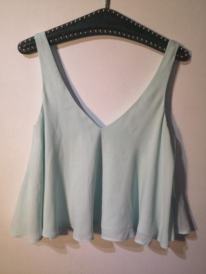 Zara mint crop top
