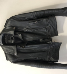 Zenska kozna jakna rokerica