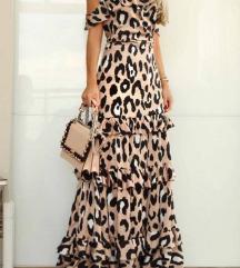 Animal print duga haljina