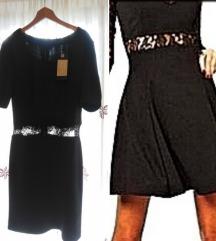 Nova Amisu crna midi  haljina sa etiketom