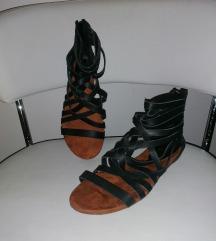 Kožne ravne sandale