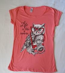 Preslatka, moderna majica sa sovicom
