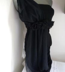 Blondy crna til na ramenu haljina XS/S
