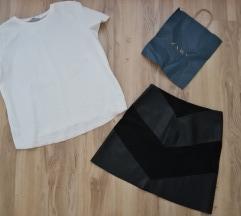 Zara Basic ekokoza suknja