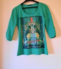Zelena majica sa printom