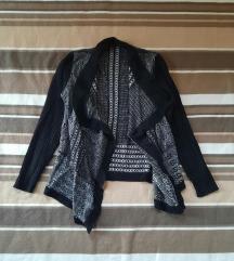 Džemper kardigan crno sivi MARC AUREL
