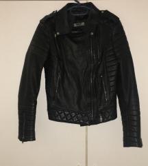 Crna kozna jakna zenska