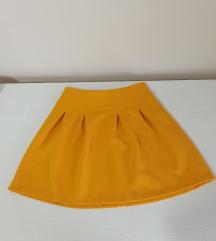 Nova New Yorker duboka mini suknja senf boje