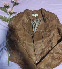 Braon jakna od eko kože M